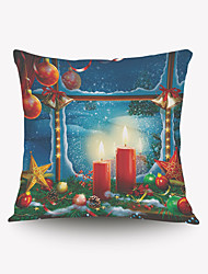 cheap -Romantic Christmas Candles Pillow Cover Romantic Christmas Gift Series Pillow Cloth Material