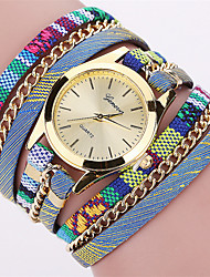cheap -Women's Quartz Wrist Watch Bracelet Watch Colorful Punk Fabric Band Charm Vintage Casual Bohemian Fashion Cool Bangle Multi-Colored