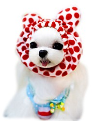Cat Dog Bandanas & Hats Dog Clothes Cute Holiday Fashion Leopard Coffee Red Pink Costume For Pets