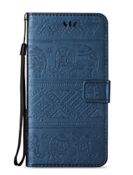 abordables -Funda Para Apple iPhone X iPhone 8 iPhone 8 Plus Funda iPhone 5 iPhone 6 iPhone 7 Soporte de Coche Cartera con Soporte Flip En Relieve