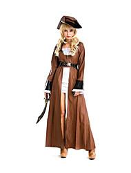 Pirate Costumes de Cosplay Féminin Fête / Célébration Déguisement d'Halloween Couleur Pleine