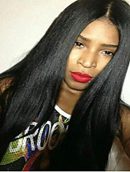 8-24Inches Full Lace Wig Brazilian Virgin Human Hair Light Yaki  Wig For African American Women