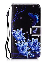 preiswerte -Hülle Für Samsung Galaxy Kreditkartenfächer Geldbeutel mit Halterung Ganzkörper-Gehäuse Blume Hart PU-Leder für Grand Prime Core Prime