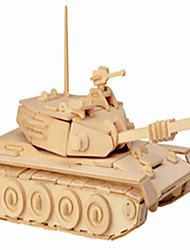Jigsaw Puzzles Wooden Puzzles Building Blocks DIY Toys Main Battle Tanks 1 Wood Ivory Model & Building Toy