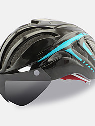cheap -FTIIER Bike Helmet 18 Vents CE Certified Cycling Adjustable One Piece Helmet with Goggles Aero Helmet Full-Face Urban Sports Youth PC EPS