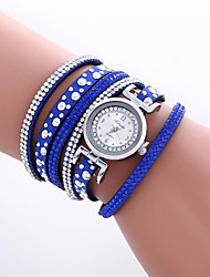 cheap -Women's Bracelet Watch Fashion Watch Wrist watch Quartz Colorful PU Band Heart shape Vintage Casual Bohemian Bangle Cool Black White Blue