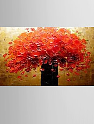 abordables -Pintada a mano Abstracto / Naturaleza muerta Pinturas de óleo,Modern / Clásico Un Panel Lienzos Pintura al óleo pintada a colgar For