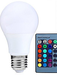 cheap -HRY 1pc 5W 500lm E26 / E27 LED Globe Bulbs A60(A19) 15 LED Beads SMD 5050 Dimmable Decorative Remote-Controlled RGBW 85-265V