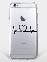 Pour Coque iPhone 7 Coque iPhone 6 Coque iPhone 5 Ultrafine Transparente Motif Coque Coque Arrière Coque Cœur Flexible PUT pour Apple