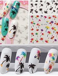 3 Nail Art naljepnica Prijenos vode Decals šminka Kozmetički Nail art dizajn