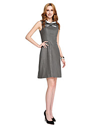 A-Line Jewel Neck Short / Mini Jersey Cocktail Party Homecoming Prom Dress with Bow(s) Lace by TS Couture®