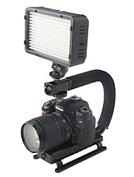 yelangu c forme flash beslag holder video håndholdt stabilisator grip for dslr SLR kamera mini dv