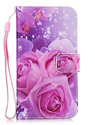 economico -Custodia Per Samsung Galaxy S8 Plus S8 A portafoglio Porta-carte di credito Con supporto Custodia posteriore Fiore decorativo Resistente