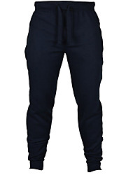 Men's Mid Rise Micro-elastic Active Sweatpants Pants,Active Slim Solid
