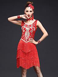 Dovremo abiti da ballo latino donne prestazioni 4 pezzi vestito