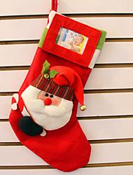2pcs stereo di santa claus calze sacchetto regalo di Natale di grado superiore stereo calze di Natale possono mettere le foto