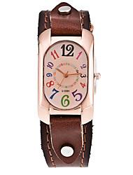 cheap -Women's Dress Watch Fashion Watch Wrist watch Casual Watch Punk Quartz Leather Band Vintage Cool Casual Black White Blue Red Brown Green Strap Watch