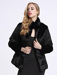 cheap -Women's Daily Winter Fall Fur Coat Long Sleeve