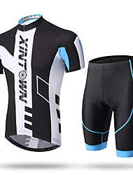 cheap -XINTOWN Men's Short Sleeves Cycling Jersey with Shorts Bike Shorts Padded Shorts/Chamois Jersey Pants / Trousers Clothing Suits, Quick