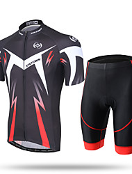 XINTOWN Cycling Jersey with Shorts Men's Short Sleeves Bike Pants / Trousers Zip Top Jersey Padded Shorts/Chamois Shorts Top Clothing