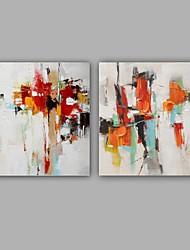 Pintados à mão Abstrato Clássico Modern 2 Painéis Tela Pintura a Óleo For Decoração para casa