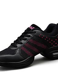 Для женщин Танцевальные кроссовки Дерматин Кроссовки С раздельной подошвой Профессиональный стиль Для открытой площадки Концертная обувь