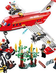 Bonecos & Pelúcias Blocos de Construir Brinquedo Educativo Brinquedos Aeronave Empilhadeira Para Meninos Para Meninas Peças