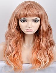 billige -Syntetiske parykker Naturligt, bølget hår Blond Syntetisk hår Blond Paryk Dame Lang / Meget lang Lågløs Gul
