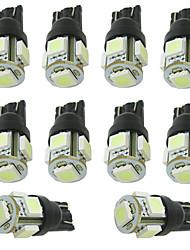 Tipo di cuneo 192 168 T10 ha condotto la luce auto di lettura / porta / indicatore lampadina 5 SMD 5050 bianco / caldo / giallo / rosso /