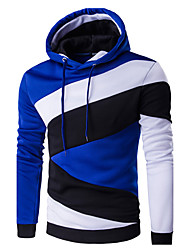 cheap -Men's Active Hoodie - Color Block Hooded / Sports / Long Sleeve