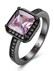Anello Zirconi Zirconi Rame Acciaio al titanio Acciaio e tungsteno imitazione diamante Rosa Gioielli Quotidiano Casual 1 pezzo