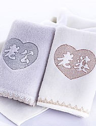 2 Pcs towel Hand TowelEmbroidery High Quality 100% Cotton Towel