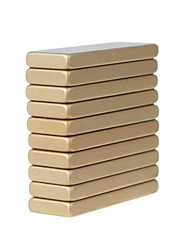 cheap -30X10X3mm Heat-resistant Super Rectangle Ndfeb Magnets (10 Lots)  Gold