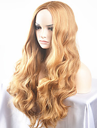 cheap -Synthetic Wig Natural Wave Middle Part Blonde Women's Capless Carnival Wig Halloween Wig Cosplay Wig Long Very Long Synthetic Hair