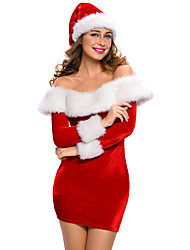 preiswerte -Santa Anzüge FrauClaus Cosplay Kostüme Frau Weihnachten Fest / Feiertage Halloween Kostüme Solide