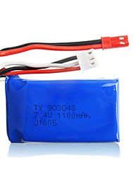 cheap -2pcs/pack 7.4v 1100mAh Lipo JST WLtoys Battery for A949 A959 A969 A979 k929Original High-speed Car Batteries