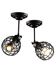 hot sale Black Birdcage Vintage Simple mini Ceiling Lamp Flush Mount lights Entry Hallway Game Room Kitchen Spot Lights