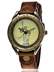 Women's Sport Watch Military Watch Dress Watch Fashion Watch Wrist watch Punk Quartz Leather BandVintage Cartoon Bohemian Charm Bangle