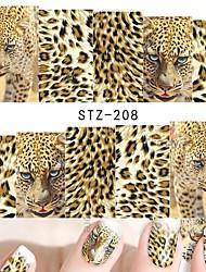 1 Sheets Nail Art Full Wraps DIY Sexy Tiger Skin for Nails Decor Designs Nail Water Transfer Sticker Nail Decals
