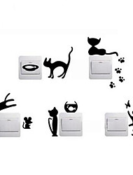 cheap -Animals Wall Stickers Plane Wall Stickers Decorative Wall Stickers Light Switch Stickers, Vinyl Home Decoration Wall Decal Wall Switch