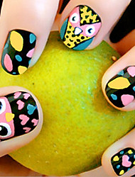cheap -24 Pieces Of Printed Fake Nails Patch The Owl Nail Products