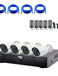 cheap -Strongshine®IP Camera with 1080P/Infrared/Waterproof and 4CH  H.264 NVR Combo Kits