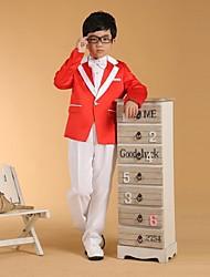 Недорогие -Белый Хлопок Детский праздничный костюм - 6 Включает в себя Куртка Брюки Жилет Широкий пояс Бабочка Рубашка