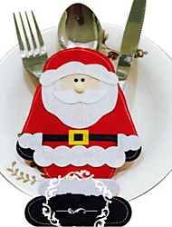 2pcs papai noel talheres decorações de natal