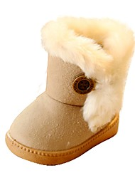 cheap -Girls' Shoes Fur / Leatherette Winter Comfort / Snow Boots Boots Walking Shoes for Fuchsia / Coffee / Pink