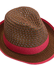 cheap -Women's Straw Straw Hat,Vintage Casual Patchwork Summer Pink