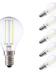 cheap -GMY® 6pcs 250lm E14 LED Filament Bulbs P45 2 LED Beads COB Warm White Cold White 220-240V