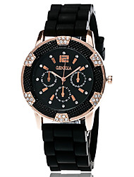 Xu™ Dámské Módní hodinky Náramkové hodinky Křemenný Silikon Kapela Retro Běžné nošení Černá Bílá Modrá Červená Orange Zelená FialováŽlutá