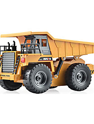 cheap -RC Car HUINA 1540 6 Channel 2.4G Dump Truck Construction Truck Truck 1:12 KM/H Remote Control / RC Rechargeable Electric