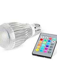 E26/E27 LED Smart Bulbs G95 1 High Power LED 480 lm RGB K Dimmable Remote-Controlled AC 85-265 V